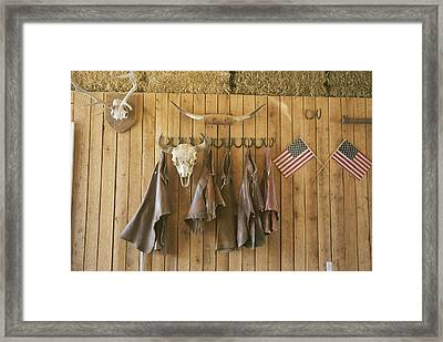 The Tack Room At Saddleback Ranch Framed Print by Taylor S. Kennedy