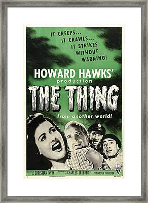 The Thing From Another World, From Left Framed Print by Everett