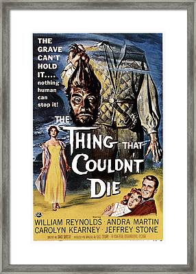 The Thing That Couldnt Die, 1958 Framed Print by Everett