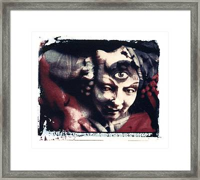 The Third Eye Polaroid Transfer Framed Print by Jane Linders
