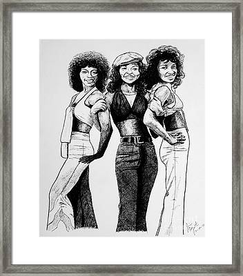 The Three Degrees Framed Print by Jim Fitzpatrick