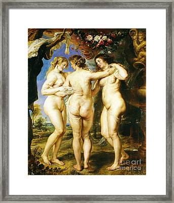 The Three Graces Framed Print by Pg Reproductions