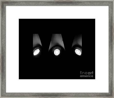 The Three Windows Of East View  Framed Print by Tammy Cantrell
