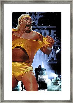 The Thrill Of One Fight Framed Print by Saad Hasnain