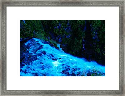 The Top Of Narada Falls Framed Print by Jeff Swan