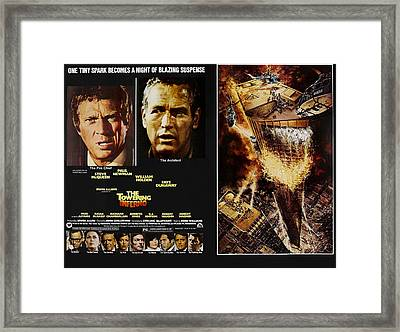 The Towering Inferno, Top Steve Framed Print by Everett