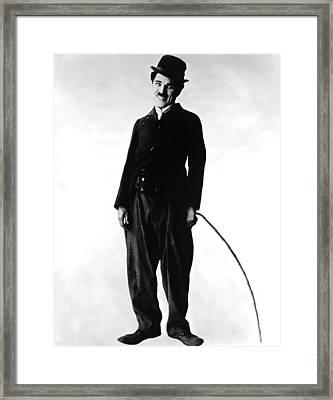 The Tramp, Aka Charlie On The Farm Framed Print by Everett