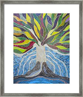The Tree Of Life Framed Print by Claudia French