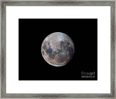 The True Colors Of The Moon Framed Print by Luis Argerich
