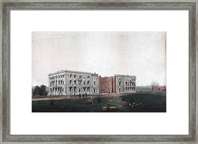 The United States Capitol Building Framed Print by Everett