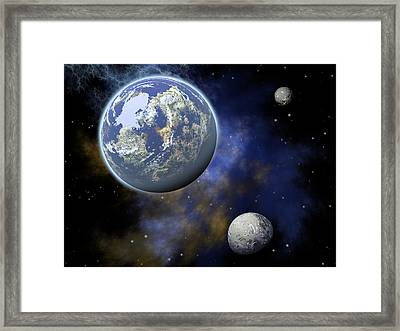 The Universe Framed Print by Jay Lethbridge