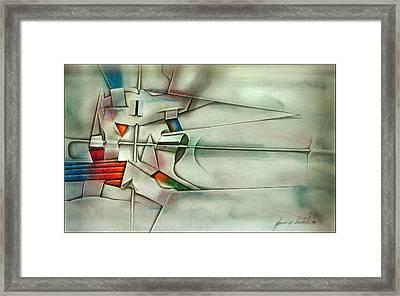 The Unseen - Cross 1989 Framed Print by Glenn Bautista