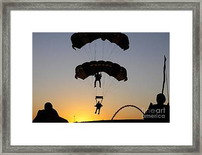 The U.s. Army Golden Knights Perform An Framed Print by Stocktrek Images