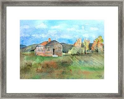 The Vacant Schoolhouse Framed Print by Arline Wagner