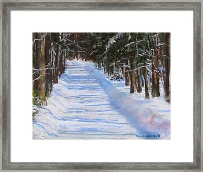 The Valley Road Framed Print by Jack Skinner