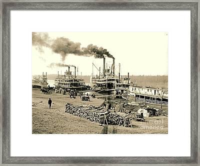 The Vicksburg Levee In Mississippi 1903 Framed Print by Padre Art