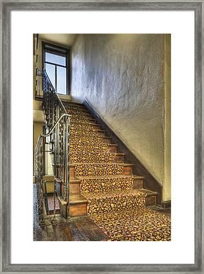 The Villa Rosa Apartments Building Framed Print by Dan Kaufman