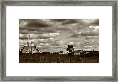 The Village Framed Print by JC Photography and Art