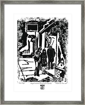The Village Framed Print by Kenneth De Tore