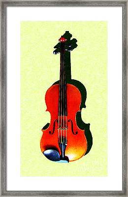 The Violin . Light Version . Painterly Framed Print by Wingsdomain Art and Photography
