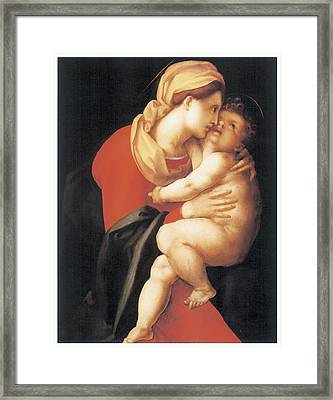The Virgin And Child Framed Print by Jacopo Da Pontormo
