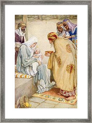 The Visit Of The Wise Men Framed Print by Arthur A Dixon