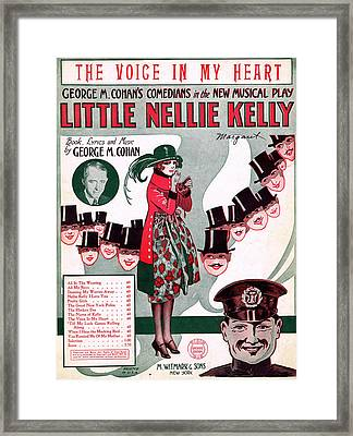 The Voice In My Heart Framed Print by Mel Thompson