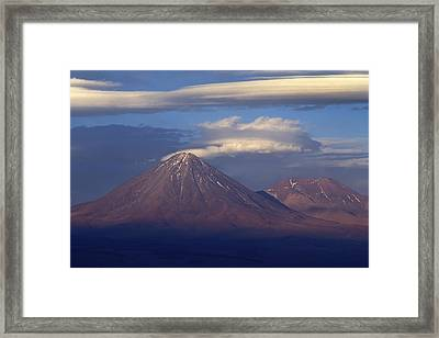 The Volcano Llicancabur. Republic Of Bolivia. Framed Print by Eric Bauer