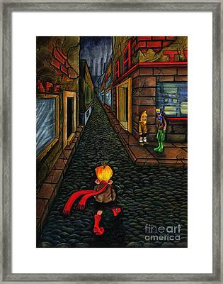 The Walk Of Loneliness Framed Print by Spencer Bower
