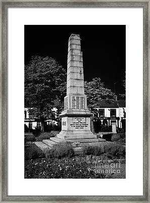 The War Memorial Newtownards County Down Northern Ireland Framed Print by Joe Fox