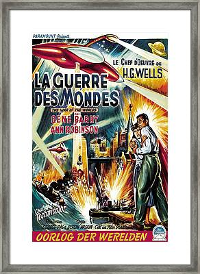 The War Of The Worlds Aka La Guerre Des Framed Print by Everett