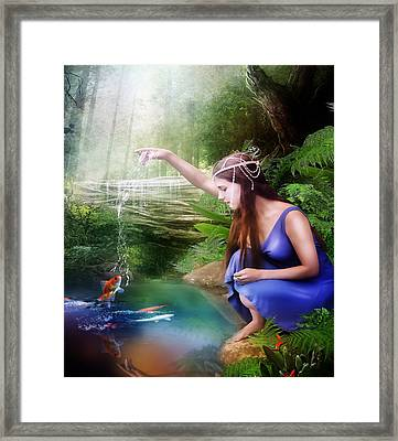The Water Hole Framed Print by Mary Hood
