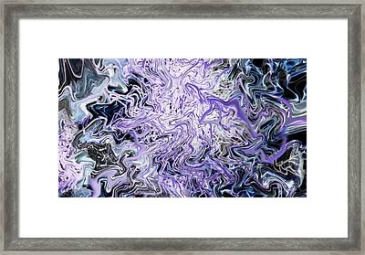 The Water That Sleeps Beneath The Moon Framed Print by Linnea Tober