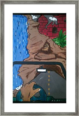 The Waterfall Framed Print by Keenan  McNealy