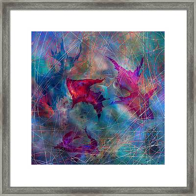 The Webs Of Life Framed Print by Rachel Christine Nowicki