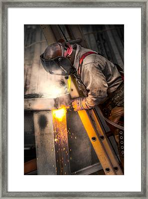 The Welder Framed Print by Brenda Bryant