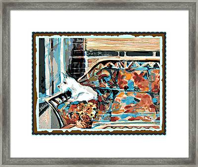 The Westie Watch Framed Print by Mindy Newman