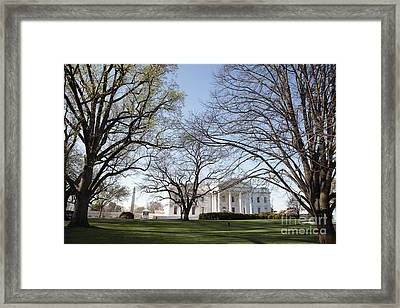 The White House And Lawns Framed Print by Neil Overy