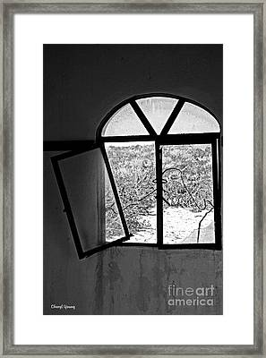 The Window Framed Print by Cheryl Young