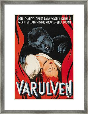 The Wolfman, Aka Varulven, Lon Chaney Framed Print by Everett