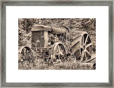 The Workhorse Bw Framed Print by JC Findley