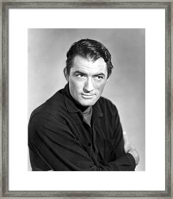 The World In His Arms, Gregory Peck Framed Print by Everett