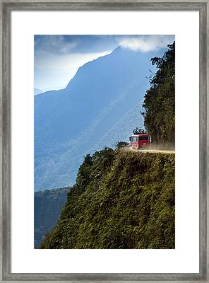 The World's Most Dangerous Road, Bolivia Framed Print by John Coletti