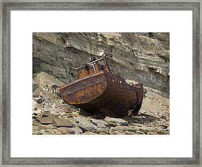 The Wreck Of Sarb J Framed Print by Steev Stamford