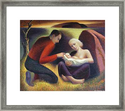The Young Family  Framed Print by Glen Heberling