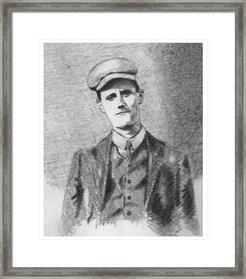 The Young James Joyce Framed Print by John  Nolan