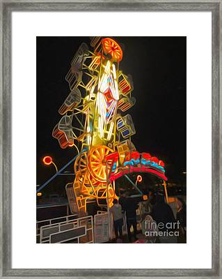 The Zipper - Carnival Ride Framed Print by Gregory Dyer