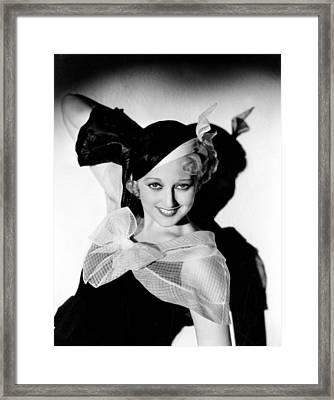 Thelma Todd, Hal Roach Studios, 1933 Framed Print by Everett