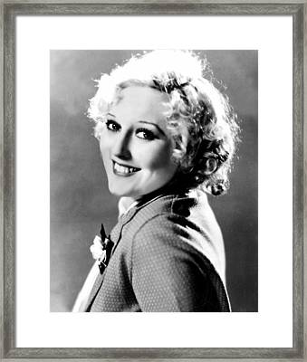 Thelma Todd, Mgm, Ca 1933 Framed Print by Everett
