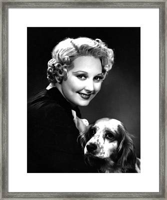 Thelma Todd, Portrait Ca. 1935 Framed Print by Everett